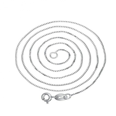 925 Sterling Silver Box Type Chain