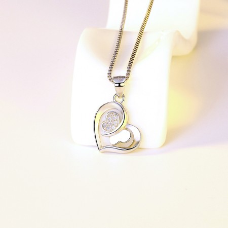 925 Sterling Silver Plated Necklace For Women