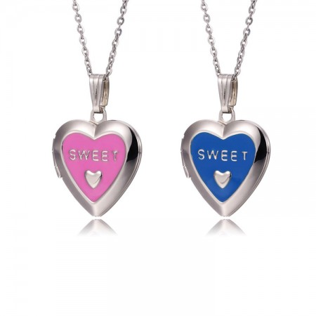 Heart-Shaped Put Photos Necklace