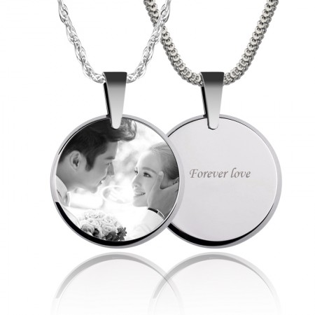 Photo Custom Necklace Lettering Couple