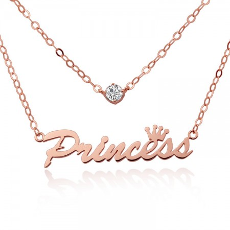 Double Custom Letter Necklace