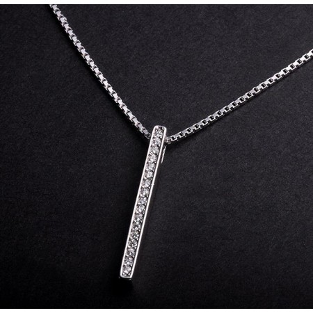 Custom 925 Silver Long Necklace