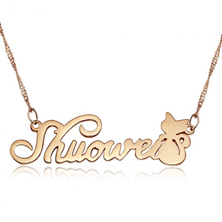 Custom Name Letter 925 Silver Necklace