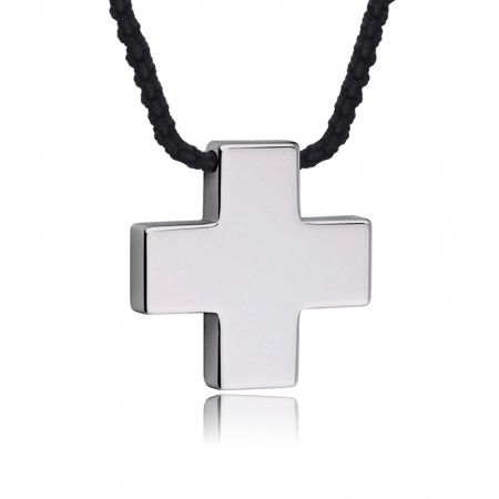 Tungsten Cross Men's Necklace
