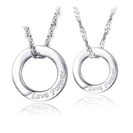 Eternal Love 925 Silver Couple Necklaces