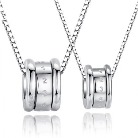 S925 Silver Transport Couples Necklaces