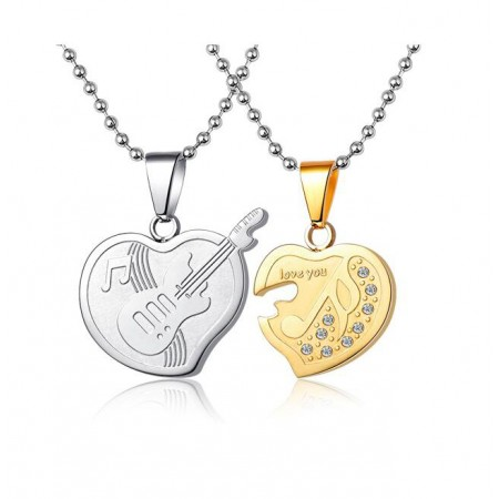 New Love Titanium Steel Couple Necklaces