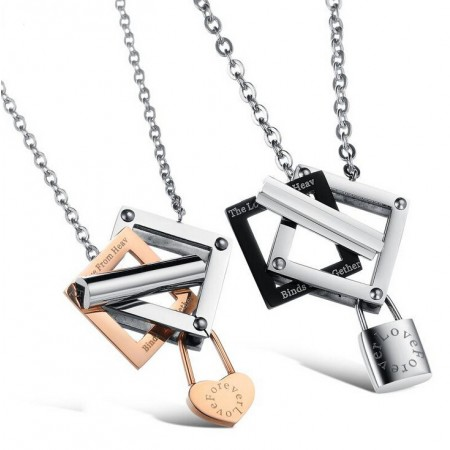 Korean Fashion Titanium Steel Couple Necklaces