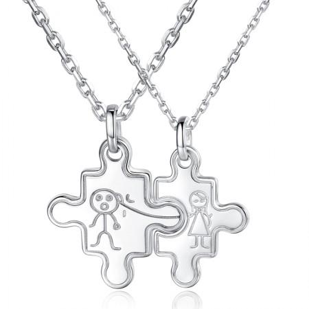 925 Silver Fashion Boutique Couple Necklaces
