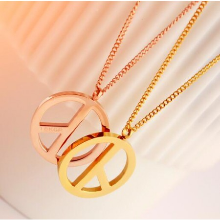 Korean 18K Rose Gold Plated Couple Necklaces