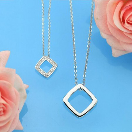 Living Geometry 925 Silver Couple Necklaces
