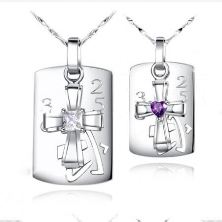 Creative S925 Silver Couple Necklaces