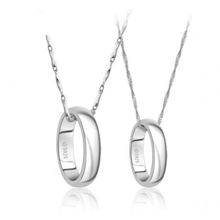 Fashion S925 Silver Lovers Necklaces