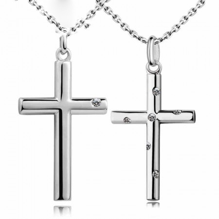 Original S925 Silver Cross Couples Necklaces