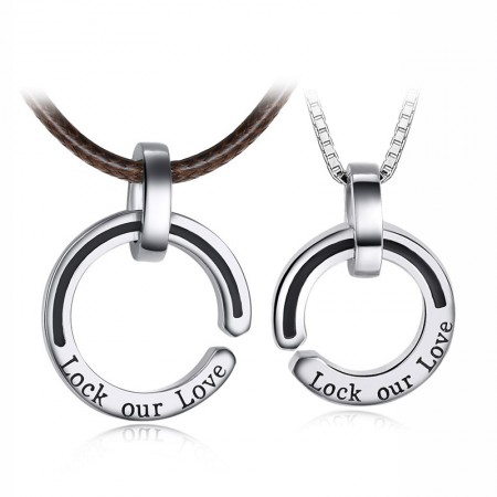 Simple S925 Silver Couple Necklaces