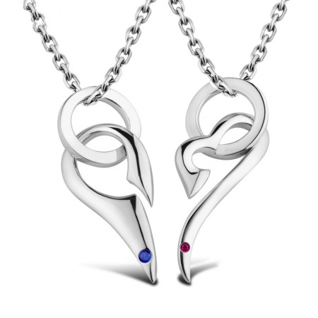 Meet Heart S925 Silver Couples Necklaces