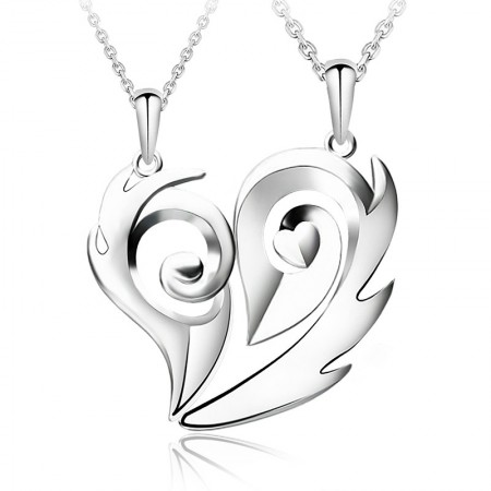 Creative Heart-Shaped Couple Necklaces