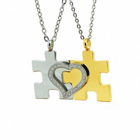 Original Puzzle Titanium Steel Couple Necklaces