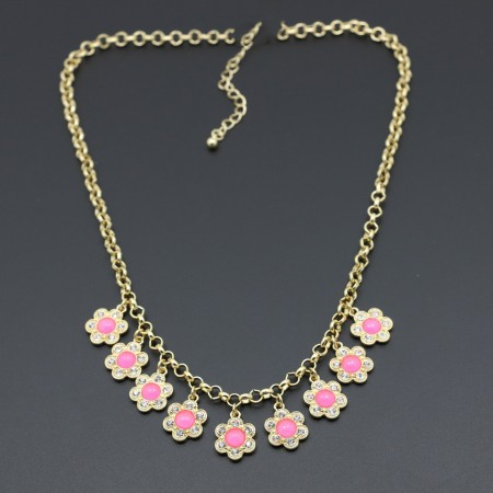 Creative Flower Jewels Necklace