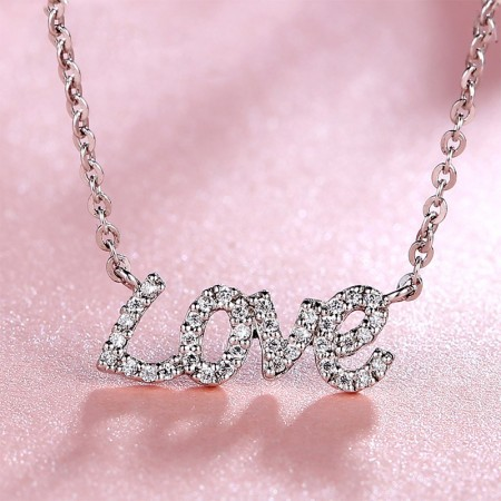 925 Sterling Silver Korean Version Of Sweet Temperament Necklace