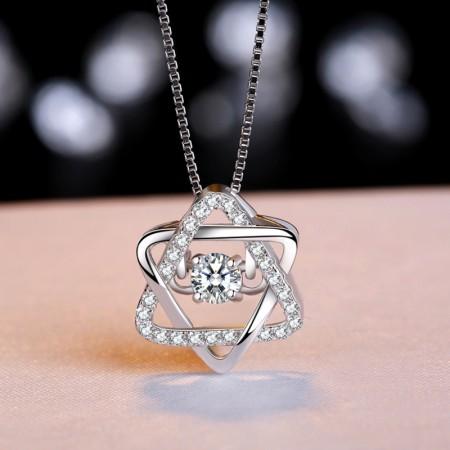 New Fashion Wild S925 Silver Elegant Shining Woman's Necklace