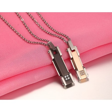 """Bright Fashion """"LOVE"""" High-Quality Titanium Steel Lover Necklaces"""
