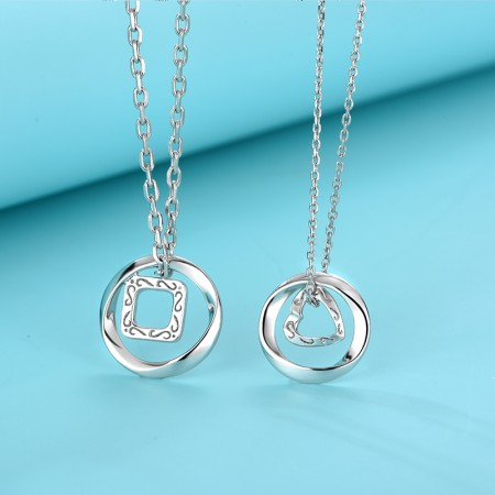 Featured S925 Silver Fashion Heart-Shaped Lover Necklaces
