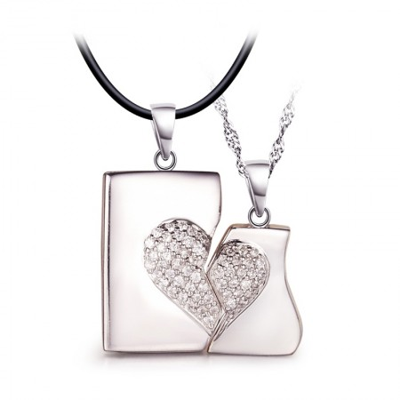 Have Mutual Affinity S925 Silver Necklaces For Lovers