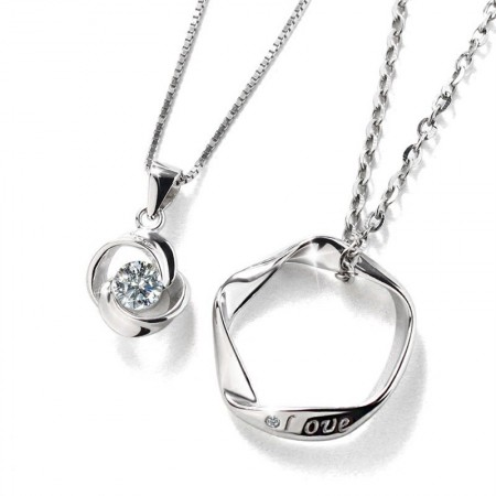 Romantic Creative Style S925 Silver Lover Necklaces