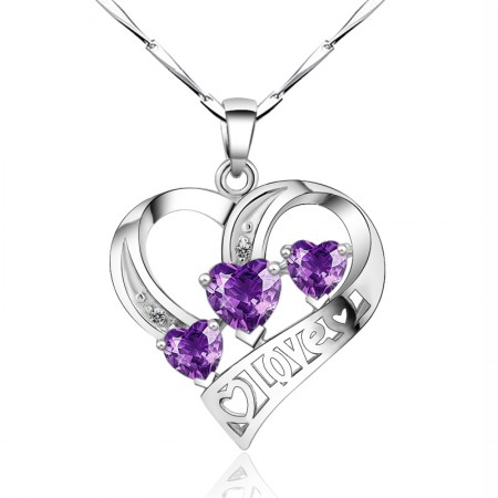 925 Silver Exquisite Craftsmanship Simple Heart-Shaped Necklace