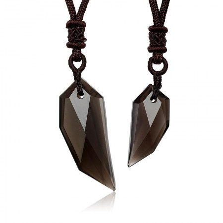 New Obsidian Spike Amulet Pendant Lover Necklaces