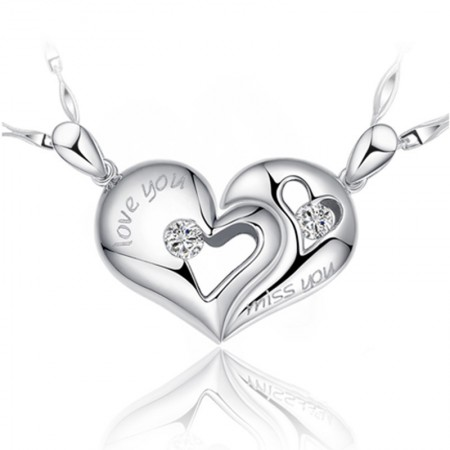 Heart-Shaped Couple Necklace