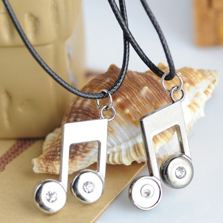 Creative Note Couples Necklace