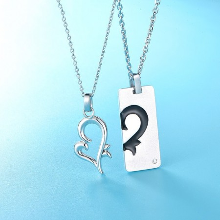 e474f7aa45 Korean Version Hot Sale Heart-Shaped S925 Silver Lover Necklaces