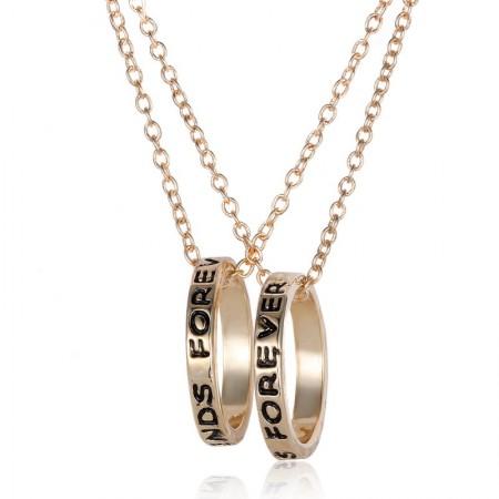 Best Friends Circle Fashion Short Necklace