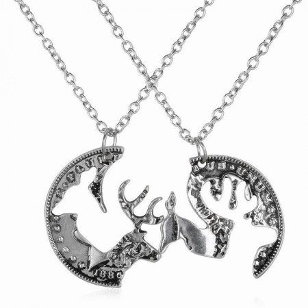 Exaggeration Best Friends Necklace