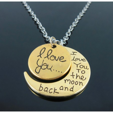 Family Members Moon Necklace