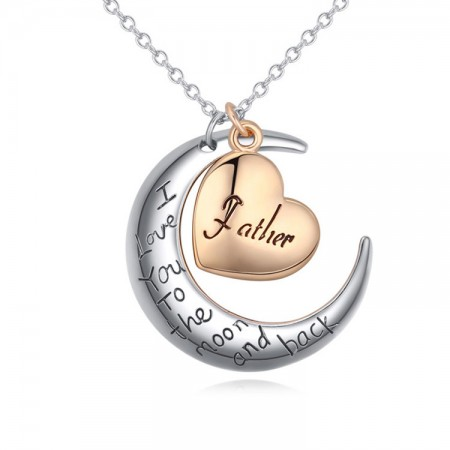 Fashion Moon Loving Family Necklace