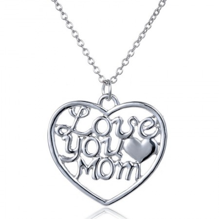 Simple Heart-Shaped Mom Necklace