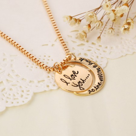 Europe Simple Letter Necklace