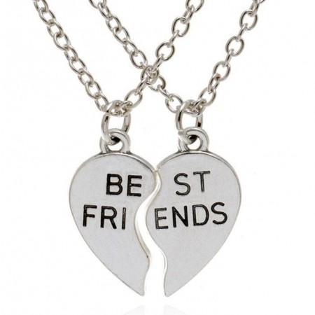 """""""Best Bitches"""" Two Mosaic Necklace"""