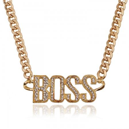 "Retro Punk Style Letter ""Boss"" Necklace"