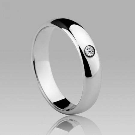 Tungsten Inlaid Rhinestones Men's Ring