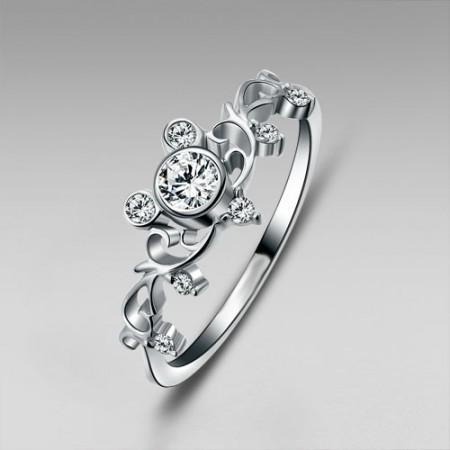 Inspired 925 Sterling Silver Women's Ring Little Finger Ring