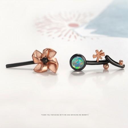 Windmill S925 Sterling Silver Opal One Pair Earrings for Girls Teens Boys Students Women