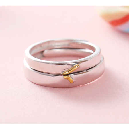 Time S925 Silver Opening Lovers Couple Rings