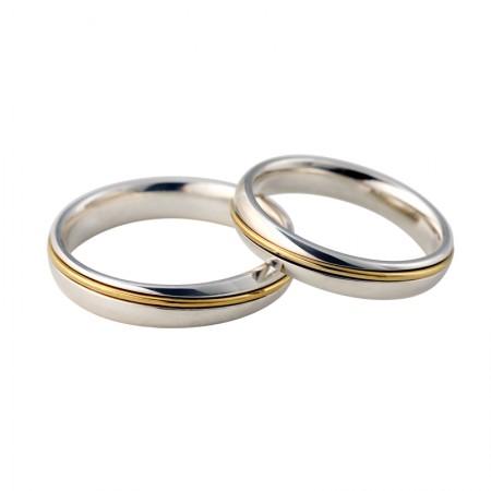 Original Design Star-Ring 18K & 925 Sterling Silver Couple Rings
