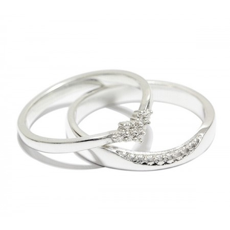 Original Design Romantic Hexagram 999 Sterling Silver Couple Rings