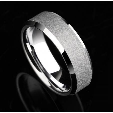 Frosted Tungsten Engagement Wedding Band Jewelry Couple Rings (Price For a Pair)