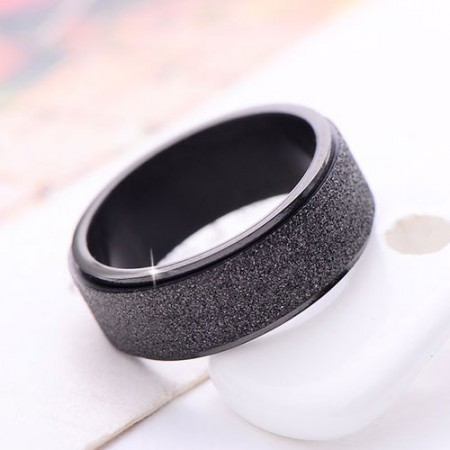 Simple Style Matting Titanium Steel Men Ring(only men ring)